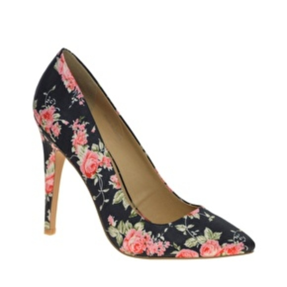 a1097a4382cd39 ASOS Shoes | Floral Print Heels | Poshmark